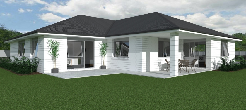 NZ278 rangitoto 4 bedroom house plan